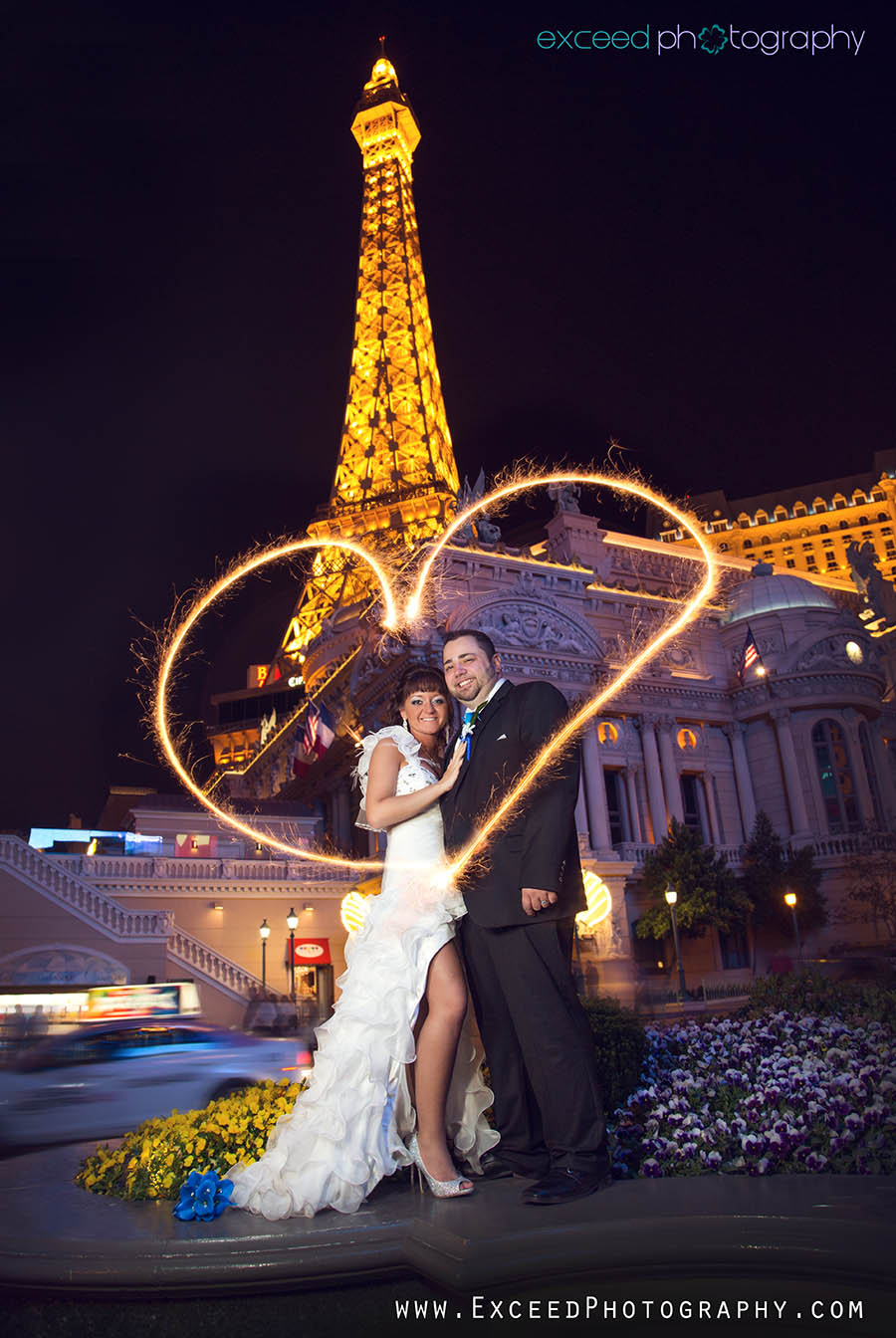Flamingo Wedding Photos Bride Heads To