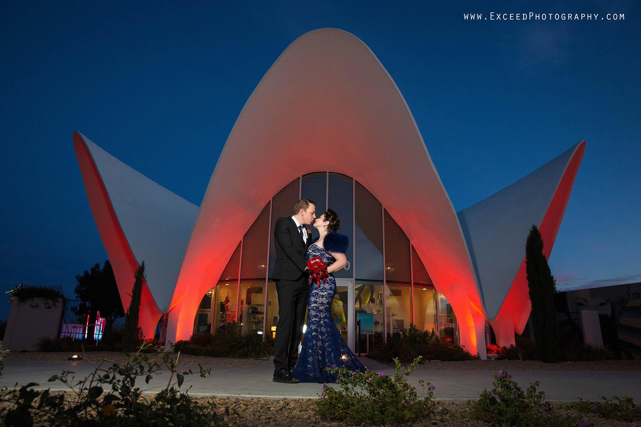 Neon Boneyard Wedding Photos